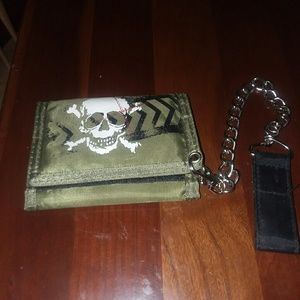 Other - Wallet and chain.  Military green.